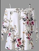 Plus Size Floral Cold Shoulder Blouse. The Floral Plus Size Blouse features lace-up sleeve and elastic cold shoulder. Top Fashion, Plus Size Fashion, Womens Fashion, Fashion Site, Cheap Fashion, Fashion Online, Fashion Clothes, Loose Shirts, Loose Tops