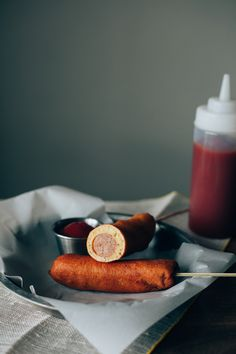Easy Corn Dogs (Make with Veggie Hot Dogs)