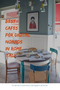 Romeow Cat Bistrot - Via Francesco Negri, 15 Roma - Italy Cool Cafe, Design Bar Restaurant, Cafe Restaurant, Dining Chairs, Dining Table, Wooden Chairs, Painted Chairs, Casa Clean, Sweet Home