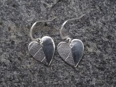 Heart earrings leaf texture heart just by SilverWindsJewellery https://www.etsy.com/uk/listing/257046770/heart-earrings-leaf-texture-heart-just?ref=shop_home_active_9