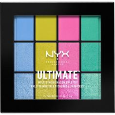 NYX PROFESSIONAL MAKEUP Ultimate multi-finish eyeshadow palette (€20) ❤ liked on Polyvore featuring beauty products, makeup, eye makeup, eyeshadow, eyes, beauty, nyx eyeshadow, nyx eye shadow, nyx and palette eyeshadow