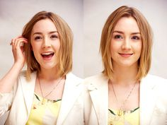 Saoirse Ronan - Some guy on the bus said he had to do a triple take because he thought I was her... I don't see any resemblance but I don't mind being confused for an actress and also 6 years younger!