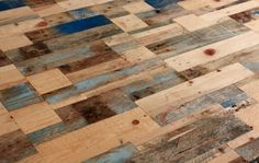 Tabletop made out of palette boards! LOVE this! This would be a COOL accent wall treatment!