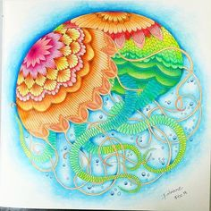 By @fanow #arttherapy #mandala #milliemarottafans #coloringbook #coloringforadults #instacolor #art #drawing #painting #coloring #milliemarotta #tropicalwonderland #animalkingdom #wildsavannah