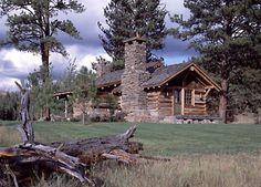 Montana ranch guest cabin.