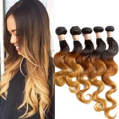 UK Hot Free Shipping Ombre Real Human Hair Extension 30  Body Wave Hair Wefts