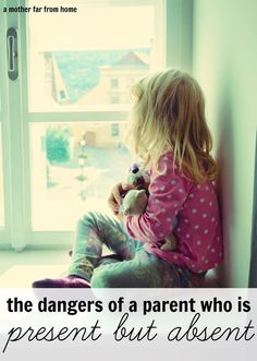 The dangers of a parent who is present yet absent are real. You know you love your child to the moon and back so here's how to make sure they know that!