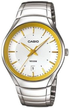 Casio Mens MTP1325D-7A2V Silver Stainless-Steel Quartz Watch with Silver Dial