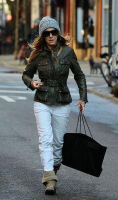 Sarah Jessica Parker Leather Messenger Bag - Sarah Jessica Parker Handbags Lookbook - StyleBistro