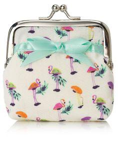 Finlay Flamingo Mini Clipframe Purse | Multi | Accessorize