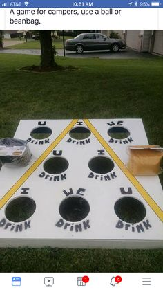 Yard games to play during happy hour Beer Tasting Bachelorette Party Drinking Games For Parties, Adult Party Games, Adult Games, Fun Games, Redneck Party Games, Party Games For Adults, Bbq Party Games, Halloween Drinking Games, Halloween Games Adults