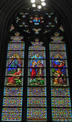 St. Patrick's Cathedral - New York City, New York - 'Three Baptisms' Window signed by Henry Ely