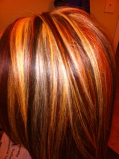 Foils. Red, brown and blonde hair. Barbara Wolfe Tucker