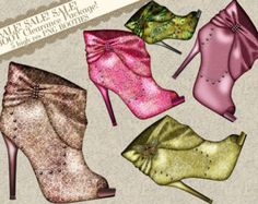 Funky High Heel Clip Art | Shoe Clipart, Boot Clipart, High Heel Clipart, Clipart, High Heel Boot ...
