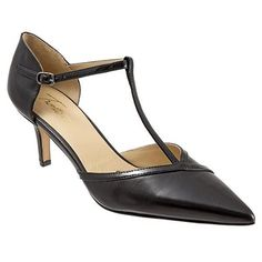 Trotters Amelia - Women's T-Strap Pumps Floral Shoes, T Strap Heels, Black Pumps, Leather Pumps, Business Casual, Amazing Women, Stiletto Heels, Brown Leather, Kitten Heels