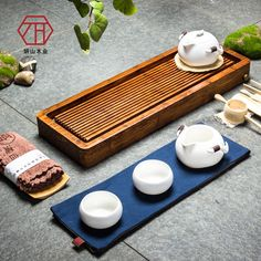 [New] new cases of Chinese natural bamboo tea tray drain line of bamboo small ...