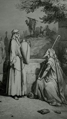 Phillip Medhurst presents detail 018/241 Bible Gustave Doré Eliezer and Rebekah Genesis 24:16