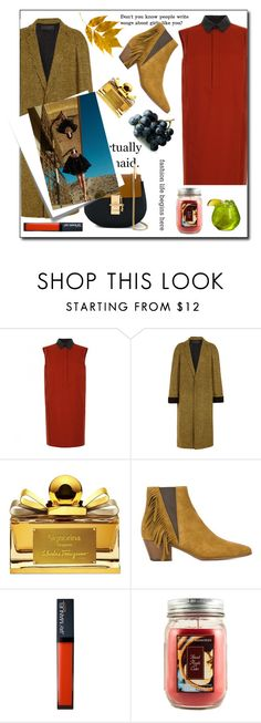 """""""Today's Editorial!"""" by styleanatomy ❤ liked on Polyvore featuring Gucci, Haider Ackermann, Salvatore Ferragamo, Naked & Famous, Yves Saint Laurent, Holiday Memories, Chloé and Post-It"""