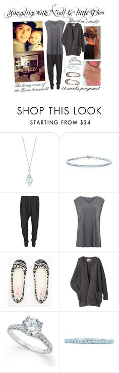 """""""Snuggling with Niall & little Theo"""" by karolinebhn ❤ liked on Polyvore featuring Tiffany & Co., Vila Milano, T By Alexander Wang, Roxy and Acne Studios"""