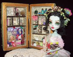 OOAK MH Doll Frankie with miniature collection all hand made by         Zerrin-Leon