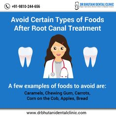 Root Canal Treatment, Dental Cosmetics, Chewing Gum, Foods To Avoid, Types Of Food, Clinic, Tooth, Teeth, Bubble Gum