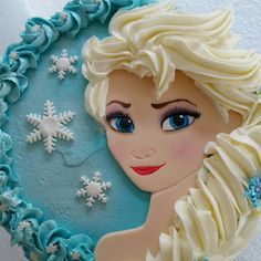Frozen fondant edible handcut Elsa by DsCustomToppers on Etsy