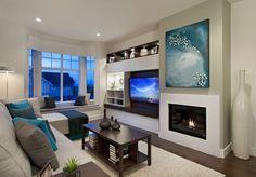 asymmetrical fireplace built ins google search foyer