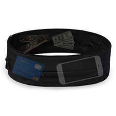 RUNACC Running Belt Waist Pack Large Capacity Jogging Belts with Zipper Phone Bag black XL * You can get additional details at the image link. (This is an affiliate link) #FitnessRunningWaistPacks