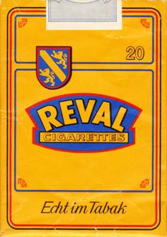 Reval #vintage #cigarette #design