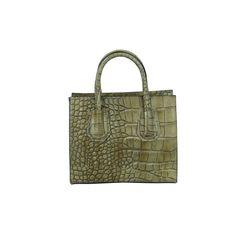 Damen Handtasche aus Rindleder in Krokoprägung SHC226
