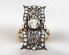 There is no Edwardian Diamond Ring that quite compares to this one. The rare and unusual design expresses the Edwardian era heading into the Deco era with such acute charisma.