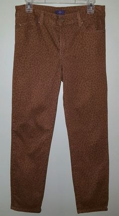 Not your daughters jeans lift tuck ankle leopard print pants womens size 6 #NotYourDaughtersJeans #Ankle