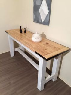 rustic vintage country style hall table sofa table