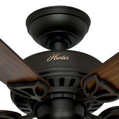#Hunter #42 #Inch New Bronze Finish #Ceiling #Fan With Tea Stain Glass Light Kit. #Hunter #53082