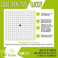Sencillo test para comprobar si hubiera alguna zona de la #retina sin visión. #RejilladeAmsler