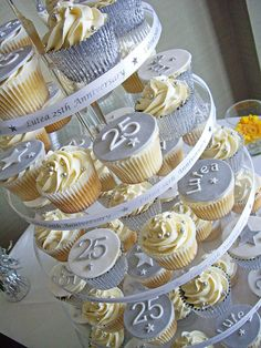 Anniversary Cupcake Tower by Chaos Cakes (Emma), via Flickr