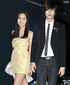 PARK MIN YOUNG AND LEE MIN HO