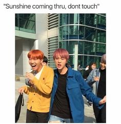 Seokjin is Hoseoks body guard. Seokjin is not only protecting Hoseok but he's protecting everyone else from getting burned. Hoseok is literall sun to the shine. Hoseok is just to hot  FIYAH ❤ #BTS #방탄소년단