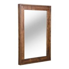 ZUO Oaktown 40 in. x 24 in. Distressed Walnut Mirror-98197 at The Home Depot