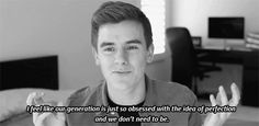 Just saw this video today. I love the fact that he embraces his flaws and admits to them.