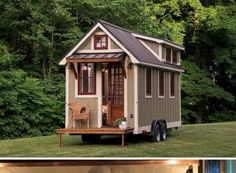"The ""Ynez"" Tiny House on Wheels by Timbercraft Tiny Homes Tiny House Movement // Tiny Living // Tiny House Trailer // Tiny Home Porch // Tiny House Swoon, Tiny House Living, Tiny House Plans, Tiny House Design, Tiny House On Wheels, Tiny House Exterior Wheels, Tiny House Movement, Minimaliste Tiny House, Timbercraft Tiny Homes"