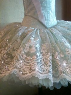 """Blue with white lace. Original pin says, """"Good site for supplies. Tutusandtextiles.com"""""""
