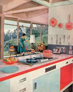 This is awesome!!!  My mom still has this type of counter top in her kitchen, except turquoise (my grandma's favorite color)