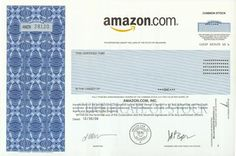 Amazon.com Stock Certificate