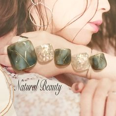 ネイル ネイル in 2020 Pedicure Nail Art, Pedicure Designs, Toe Nail Art, Fingernail Designs, Blue Nail Designs, Stick On Nails, Glue On Nails, Feet Nail Design, Gel French Manicure