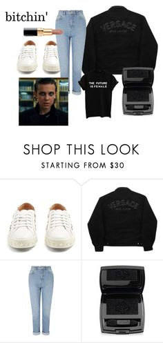 """bitchin'"" by el011 ❤ liked on Polyvore featuring Aquazzura, Versace Jeans Couture, Miss Selfridge and Lancôme"