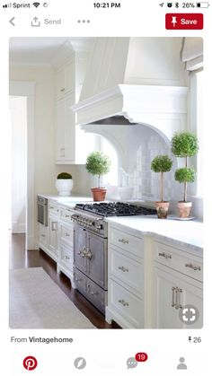 Blue White Kitchens, Blue And White, Black, Kitchen Cabinets, House, Home Decor, Decoration Home, Black People, Home