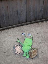 Sluggo chalk art by David zinn (Sluggo on the Street, Vol. 1) - check out his website