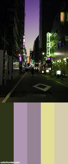 Street At Dusk Color Scheme