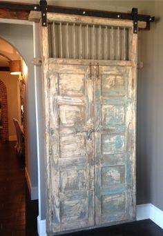 Gorgeous old antiqued door instead of your office door.